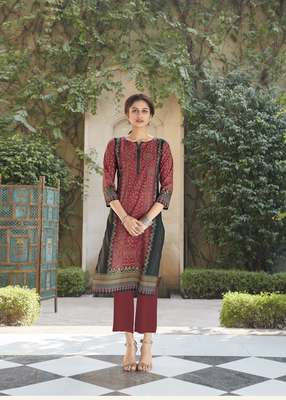 Angarika Brown Color Rayon Bollywood Kurti