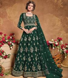 GreenSoft Net Anarkali Gwon Style Suit with Heavy Embroidey and Rich Look
