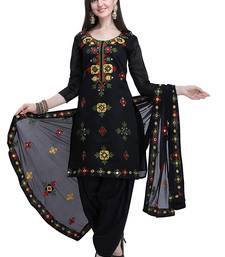 Black embroidered chanderi salwar