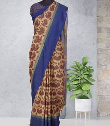 Multicolor printed pochampally saree with blouse