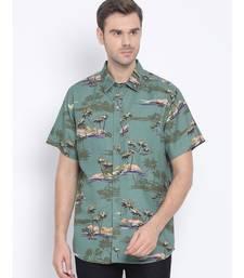 Graphic Lowly Doner Men   s Linen Blend  Shirt