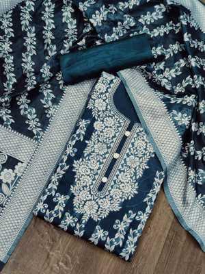 Green jacquard cotton silk salwar