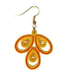 Handmade Paper Jwellery/Quilled Earings -yellow  shop online