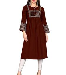 WOMEN'S RAYON EMBROIDERY READYMADE