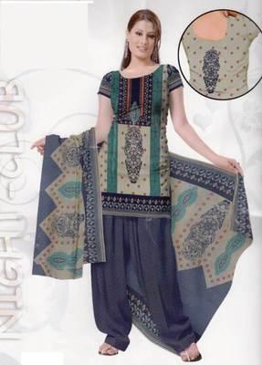 Crepe dress material elegant designer unstitched salwar suit d.noTD01