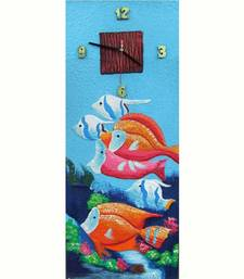 Buy Fish Painting Clock painting online