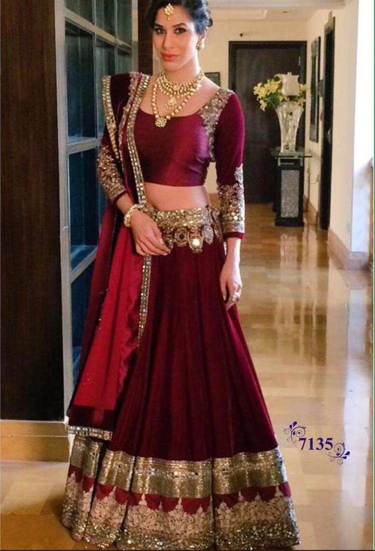 Buy Maroon Color Fancy Designer Banglorisilk Wedding