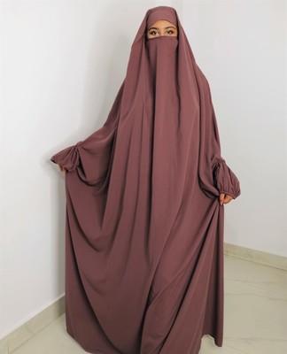 Single Piece Jilbab With Adjustable Mouthpiece
