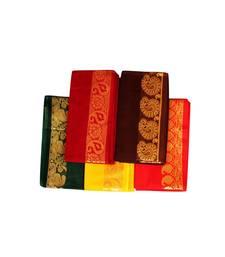 Multicolor Silk Cotton Unstitched Blouse Piece Material for Navratri  Durga  Festive  Oti Bharan  Ugadi Special