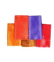 Multicolor Rapier Jacquard Fabrics Unstitched Blouse Piece (Pack of 5)