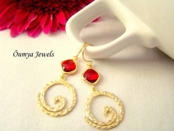 Golden Spiral earrings