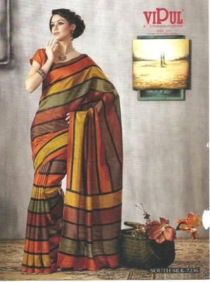 Designer Bhagalpuri South Silk Saree 7236