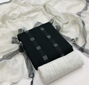 Kvsfab Women's South south Handloom Cotton Woven Dress Material Salwar Suit Fabric