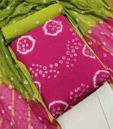 Pink bandhej pure cotton salwar