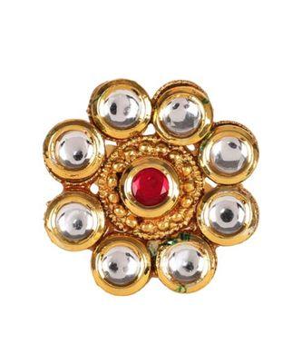 Steorra Jewels Golden Floral Kundan Ring