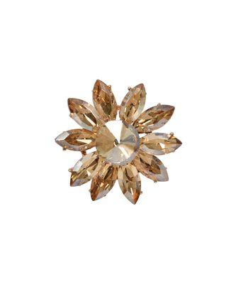 Crystal Shine Golden Stone Flower Party Bling Adjustable Finger Ring For Women And Girls