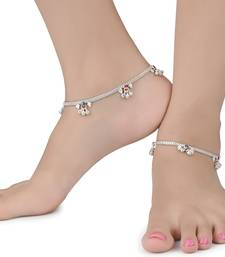 Silver Plated Indian Traditional Ethnic Fancy Anklets