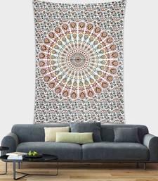 Tapestry Multicolor Mandala Print Wall Hanging (84 x 90 Inch)