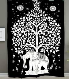 Tapestry Balck & White Color with Elephant Tree Print Wall Hanging (84 x 90 Inch)