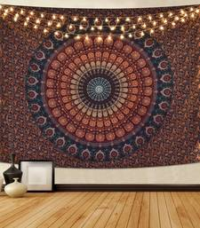Tapestry Mandala Peacock Design With Multi Color Wall Hanging  (84 x 90 Inch)