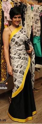 White and Black saree