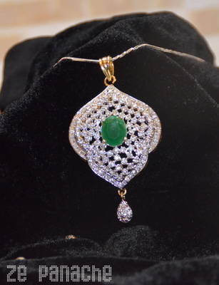 Emerald Green Pendant Set