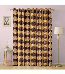 A Coffee Polyester Punching Printed Window Curtain