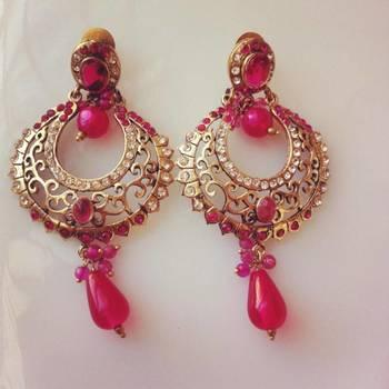 Pink Victorian Earrimgs