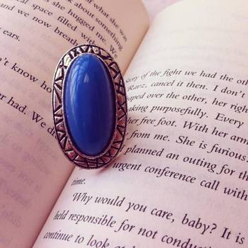 Adjustable Blue Fashion RIng
