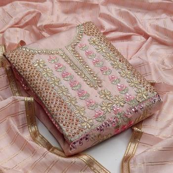 Pink mirror chanderi salwar