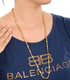 28inches Long Gold Plated Brass Chain