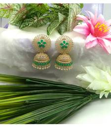 Green Brass Copper  styled Earrings set