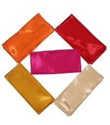 Multicolor unstitched Solid  5 Blouse PIECES