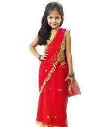 Aglare net border sari,readymade saree.ready to wear.fully stitched