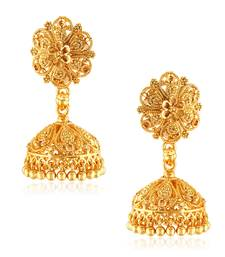 Traditional Jhumki Alloy Gold and Micron Plated Jhumki Earring