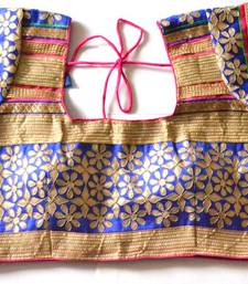Blue Bordered Kutch Embroidered Cotton Traditional Blouse
