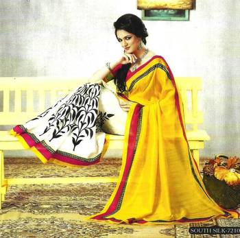 Designer Bhagalpuri Silk sari,saree, casual,festive,party wear 7210