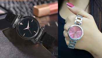 pack of 2 standard quality classic watch for Girls