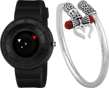 sporty design watch and kadaa(bracelet) combo for mens