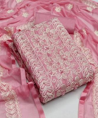 Light-pink moti cotton salwar