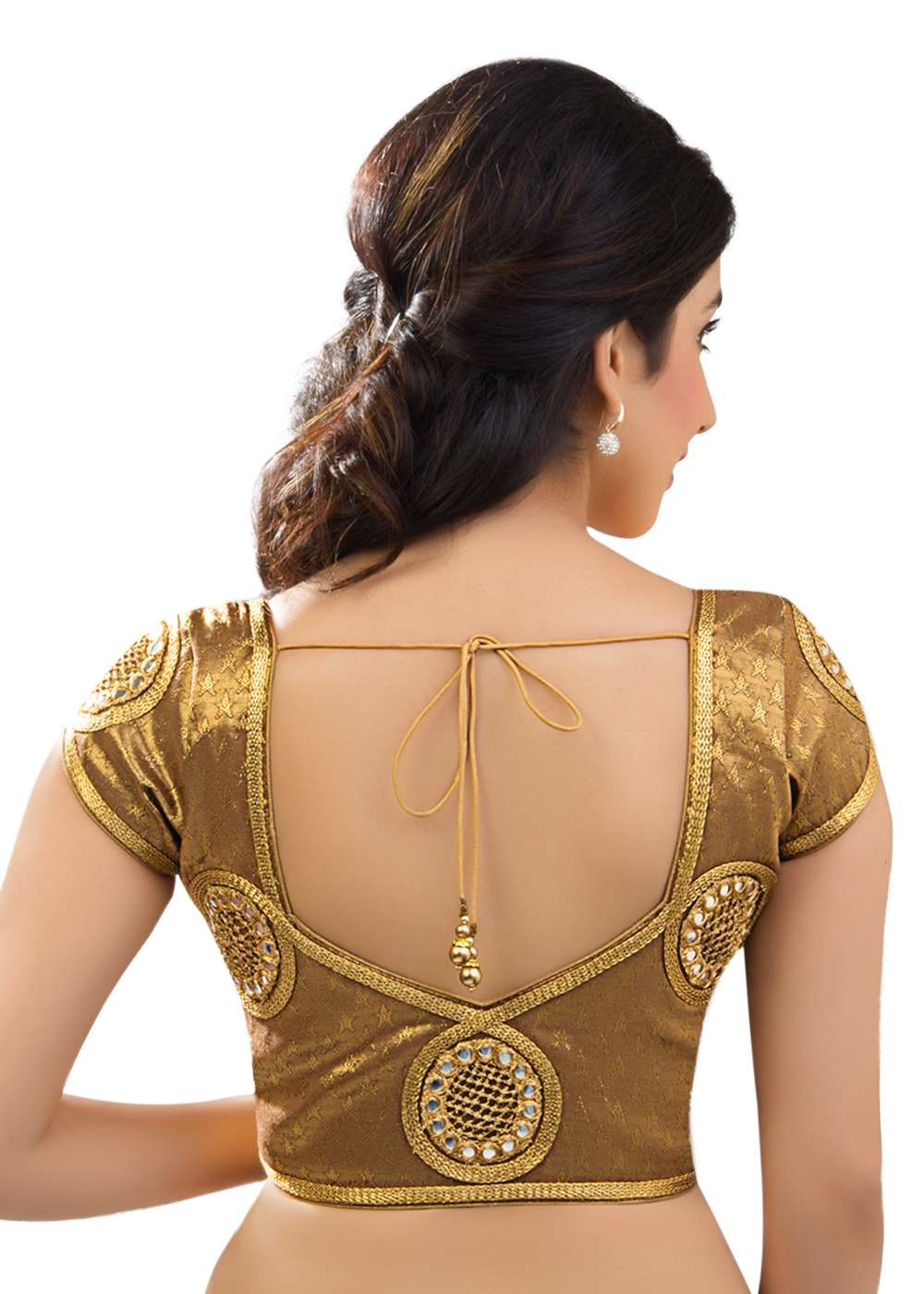 Buy gold brocade readymade-blouse Online