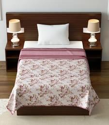 Jaipuri Single Bed Dohar Lightweight Reversible Dohar for Single Bed Blanket/Duvet/Quilt/AC Dohar Flowers Print