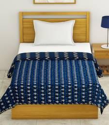 Cotton Jaipuri Single Bed Dohar Lightweight Reversible Dohar for Single Bed Blanket/Duvet/Quilt/AC Dohar ZigZag Print