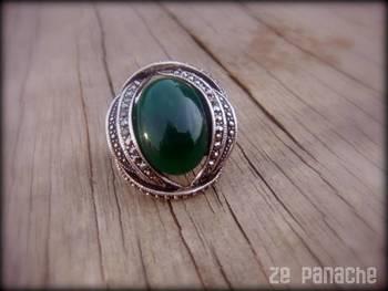 Green Adjustable Ring