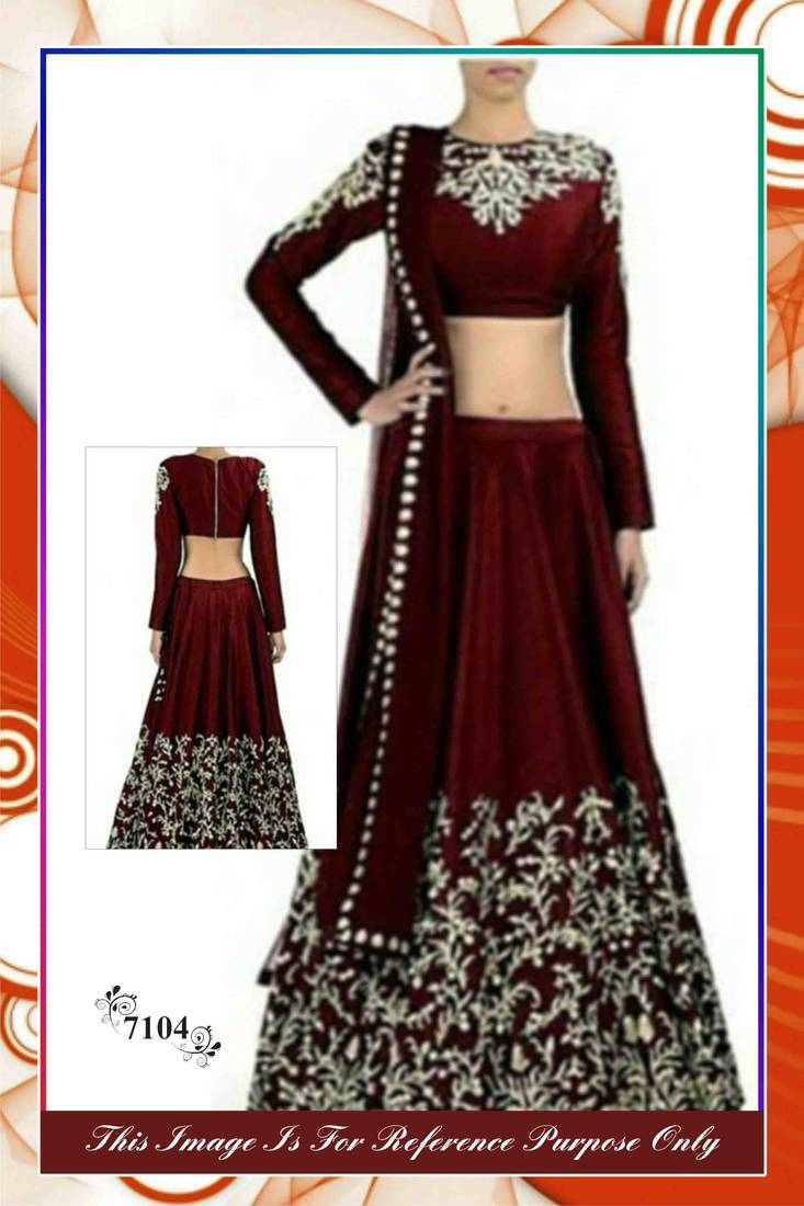 Buy Maroon Banarasi Lehenga Bollywood Lehengas Online