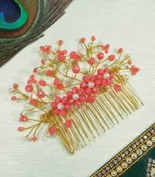 Peach  Women's Hair Brooch