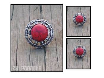 Reddish Pink Adjustable Ring