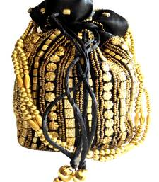 Buy Bead Pouch Potli Bag  Black fashion-deal online