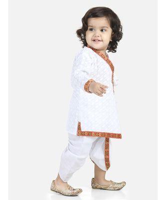 White Full Sleeve Cotton Kanhaiya Dress