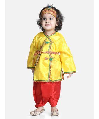 red Little Kanhaiya Suit Dress Set